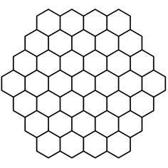 Hexagon Honeycomb Tessellation coloring page from Tessellations category. Select from 24104 printable crafts of cartoons, nature, animals, Bible and many more. Bee Honeycomb, Honeycomb Pattern, Hexagon Pattern, Printable Crafts, Printables, Bee Drawing, Muster Tattoos, Bee Crafts, Stencil Patterns
