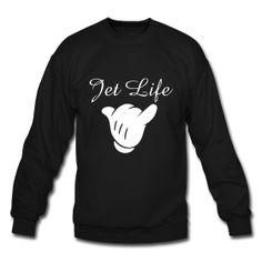 JET LIFE crewneck sweatshirt   Dope Urban Streetwear x tags. ill, mob, rocky, stay, tumblr, a$ap, asap, illest, shirt, trill
