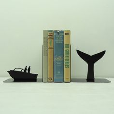 Whale Tail Metal Art Bookends  Free USA by KnobCreekMetalArts, $62.99