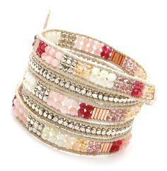 Filipa Wrap Bracelet-Pink by Nakamol - Nakamol Chicago