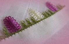 This Pin was discovered by Çiğ Crochet Lace Edging, Knit Crochet, Lace Art, Hairpin Lace, Sewing Art, Thread Work, Needle Lace, Hand Embroidery, Tatting