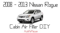 How to Replace the Cabin Air Filter - 2011 Nissan Rogue - http://autofixpal.com/how-to-replace-the-cabin-air-filter-2011-nissan-rogue/ - https://www.youtube.com/watch?v=iLIkJ1Wbz-U&t=1s  The Video says it all. DIY cabin air filter replacement on a 2008- 2013 Nissan Rogue.