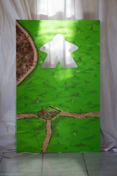 Hand painted Carcassone photobooth! #geekery #geek #boardgame #party