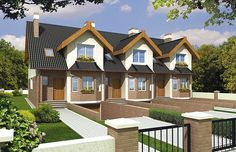 FIONA segment A skrajny lewy - projekty domów projekttop. Modern House Design, Home Fashion, Small Towns, The Row, House Plans, Exterior, How To Plan, Mansions, House Styles