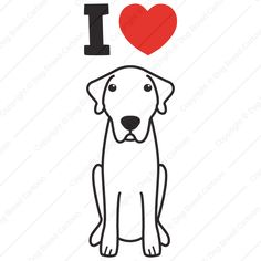 Anatolian Shepherd Dog | I Love Edition | Dog Breed Cartoon | Download Your Breed Now! Then print it! Frame it! Love it! Or create your own memorabilia!
