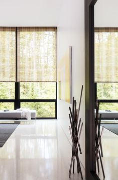 You've heard of Solar Shades, but do you know how they work? Solar screen shades provide an addition. Contemporary Window Treatments, Solar Screens, Honeycomb Shades, Woodland House, Woven Shades, Solar Shades, Patio Shade, Custom Windows, Wood Blinds