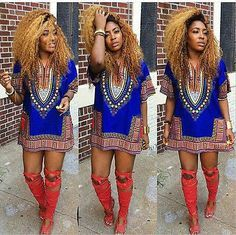 Women African Festival Dashiki Shirt Kaftan Boho Hippe Gypsy Festival Tops Party Dress Plus Size Dark Blue XL Boho Hippie, Boho Gypsy, Hippie Mode, African Attire, African Wear, African Women, African Dress, African Style, African Fashion Designers