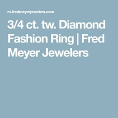 3/4 ct. tw. Diamond Fashion Ring | Fred Meyer Jewelers