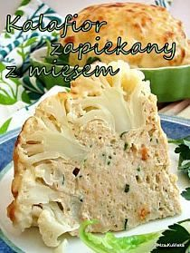 Tasty Pyza: Cauliflower gratin with chicken and cheese sauce Vegetable Recipes, Vegetarian Recipes, Cooking Recipes, Healthy Recipes, Healthy Snacks, Healthy Eating, Good Food, Yummy Food, Cauliflower Recipes
