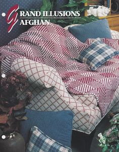 Grand Illusions Annie's Crochet Quilt & Afghan Pattern