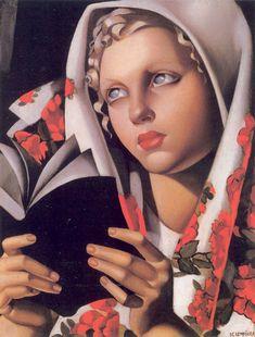 Title: The Polish Girl, 1933 Artist: Tamara de Lempicka (inspired by) Medium: Hand-Painted Art Reproduction