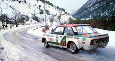 #Fiat 131 taking a snowy corner. #Italian #Racing #Classic #Skill #Speed