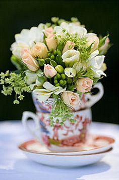 (More) Tea Cups flower arranging