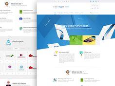 9 best Free PSD Website Templates images on Pinterest | Design web ...