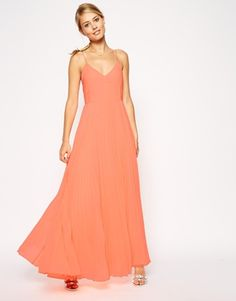 ASOS Pleated Cami Maxi Dress
