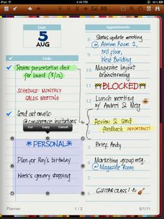 """Noteshelf for iPad: handwriting note taker with """"wrist protection,"""" pdf export, and paper options"""