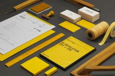 """""""With the use of yellow, ACRE wanted to feature our work as a collaborative harvest between us, our clients and our partners. We took a field as inspiration for our logo. Being an art collective of idea crafters, we have a preoccupation with measurement devices, preferring the old way of customization."""""""
