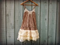 Sm Tattered Tea Stained Sundress// Small// Vintage by emmevielle, $72.00