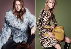 Raquel Zimmermann e Karmen Pedaru na campanha da Gucci (Foto: Divulgação)