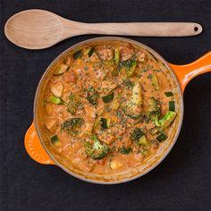 Marias Matglede ♥: Indisk gryte med squash og brokkoli