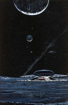 ronbeckdesigns:  Peter George Elson - Illustration   Space Cruiser C57D.