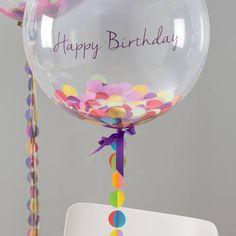 Birthday Confetti Filled Balloon