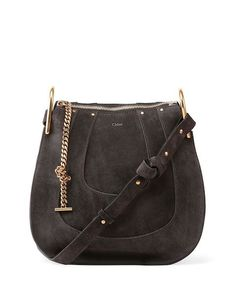 Chloe Hayley Small Suede Hobo Bag - Chloe Handbags