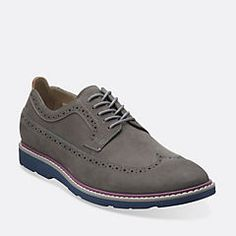 Gambeson Dress Grey Nubuck - Clarks Mens Shoes - Lace-ups and Slip-ons