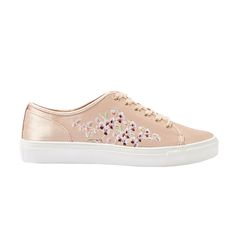 Topshop Cupid Embroidery Trainers