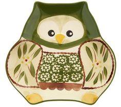 Temp-tations Old World Owl Plates with Spreader Pinned by www.myowlbarn.com