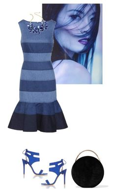 """""""BLUE"""" by where-style-happens ❤ liked on Polyvore featuring Carolina Herrera, Miss Selfridge, Eddie Borgo and Kate Spade"""