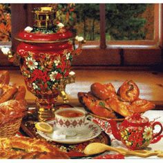 Tea is the most popular nonalcoholic beverage in Russia and traditional Russian tea ceremony closely reflects rich Russian culture, traditions. Russian Culture, Tea Culture, Russian Recipes, Russian Foods, Russian Tea, Types Of Tea, Chocolate Pots, Non Alcoholic Drinks, Tea Ceremony
