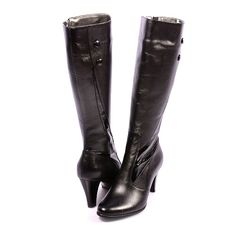 CIZME PIELE NATURALA CLASSIC OUTFIT  260,0 LEI Lei, Riding Boots, Heeled Boots, Outfit, Shoes, Fashion, Horse Riding Boots, High Heel Boots, Outfits