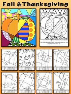 Thanksgiving & fall interactive coloring sheets