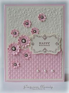 Love the combination of these 2 embossing folders.