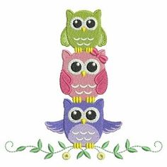 Baby Owls 3, 2 - 5x7 | What's New | Machine Embroidery Designs | SWAKembroidery.com Ace Points Embroidery