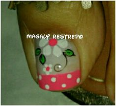 Uñas Cute Toe Nails, Cute Toes, Toe Nail Art, Pedicure Nail Designs, Toe Nail Designs, Manicure And Pedicure, Cute Pedicures, Flower Nails, Creative Nails