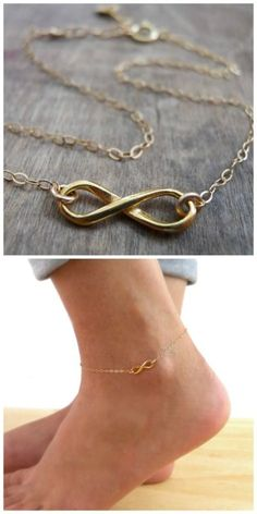 Dainty and beautiful infinity anklet