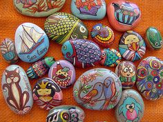 my rocks (some of...) by Anthi's point of ...craft, via Flickr