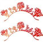 A Pair of Rose Fiber Papercutting Type False Eyelash HBI-235545 - TinyDeal