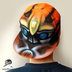 TRANSFORMER Bumblebee | Custom SNAPBACK | Hat | Cap | GRAFFITI named | Initials | Baseball Cap | Personalized | Hand painted | Airbrushed - pinned by pin4etsy.com