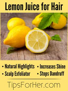 Lemon juice is a simple, natural way for keeping long, beautiful, luxurious locks. Check out some of the great ways lemon juice can keep your hair and scalp healthy.