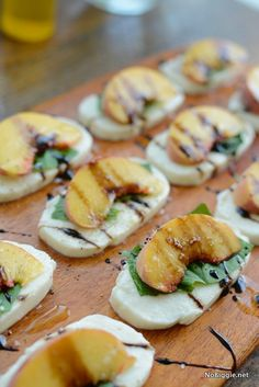 Peach Caprese Salad | 25+ Easy No Cook Appetizers