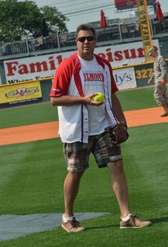 Vince Gill rockin' madras shorts during City of Hope's 22nd annual Celebrity Softball Challenge during CMA Fest on June 9, 2012 in Nashville. (Photo by Rick Diamond/Getty Images for City of Hope) , 2012