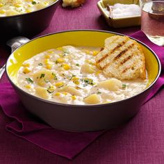Quick Potato Corn Chowder Recipe -This is the perfect starter, or even a meal in itself. It works in every season, so enjoy it year 'round. —Lucia Johnson, Massena, New York