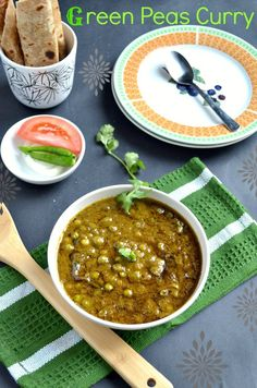 Green Peas Curry/Green peas Masala- Restaurant Style ~ Nalini'sKitchen