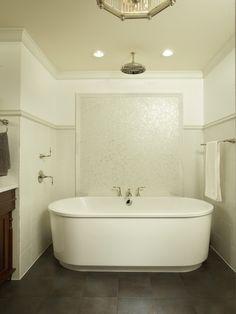SallyL: Martha O'Hara Interiors - Dreamy bathroom design! Rainfall showerhead over freestanding ...