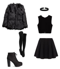 """everything black"" by lyzzajane on Polyvore featuring Zara, Polo Ralph Lauren, H&M and ASOS"