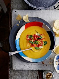 Sweet potato, coconut & cardamom soup   Jamie Oliver