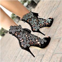 Shoespie Cut Out Stiletto Heel Dress Sandal